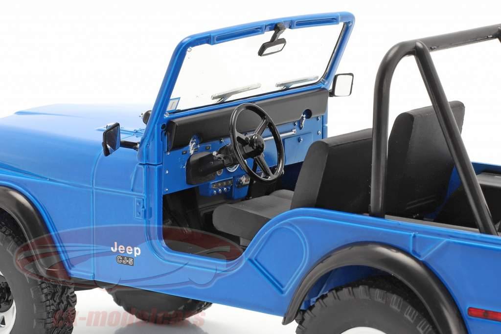 Jeep CJ-5 1972 séries de TV Mork & Mindy (1978-82) azul 1:18 Greenlight
