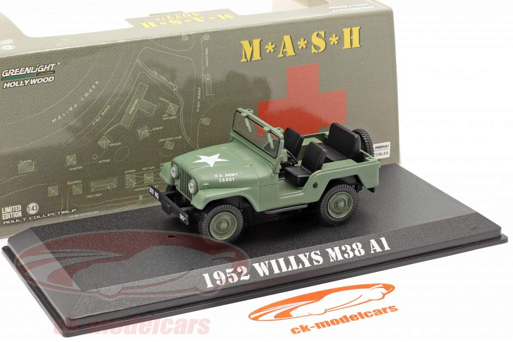 Jeep Willys M38 A1 1952 séries télévisées M*A*S*H* (1972-83) olive 1:43 Greenlight