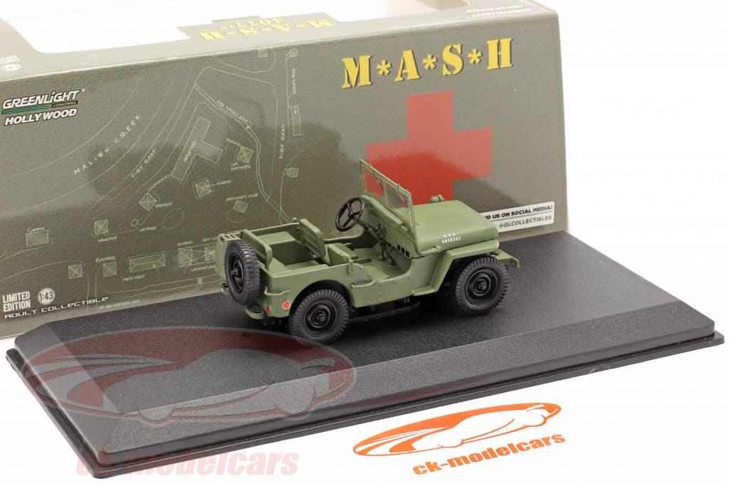 Jeep Willys MB 1942 la télé séries M*A*S*H* (1972-83) olive 1:43 Greenlight
