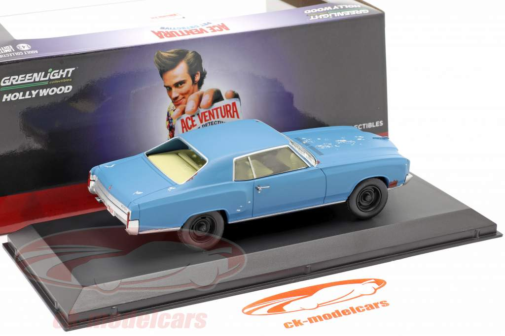 Chevrolet Monte Carlo 1972 Película Ace Ventura (1994) azul 1:43 Greenlight