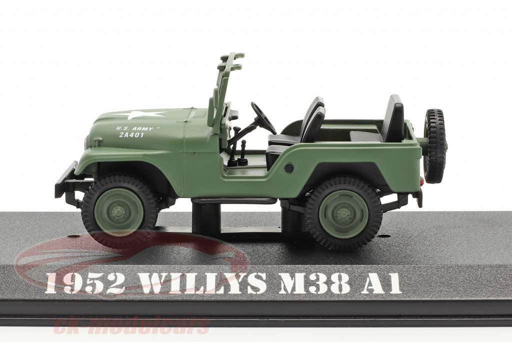 Jeep Willys M38 A1 1952 TV series M*A*S*H* (1972-83) olijf- 1:43 Greenlight
