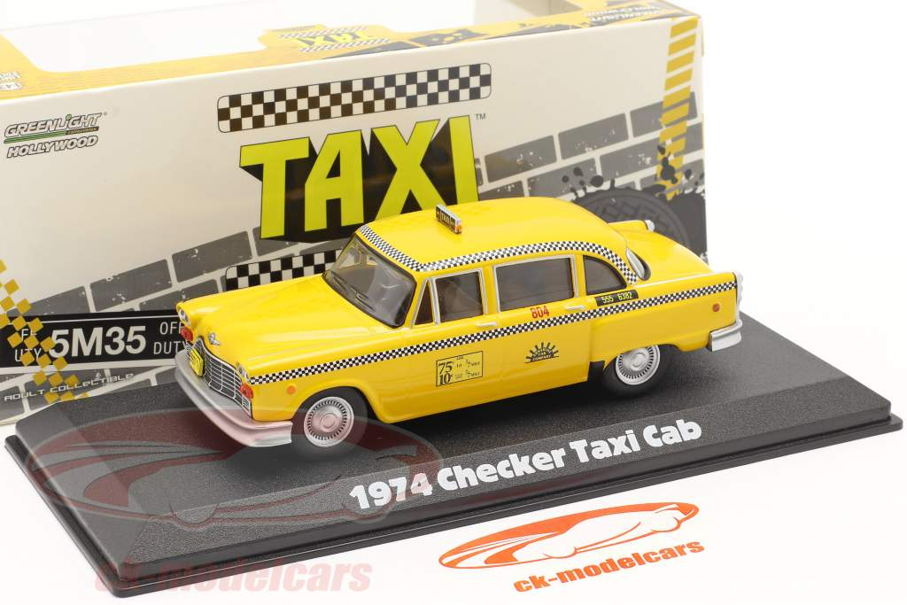 Checker Taxi Cab 1974 TV series Taxi (1978-83) geel 1:43 Greenlight