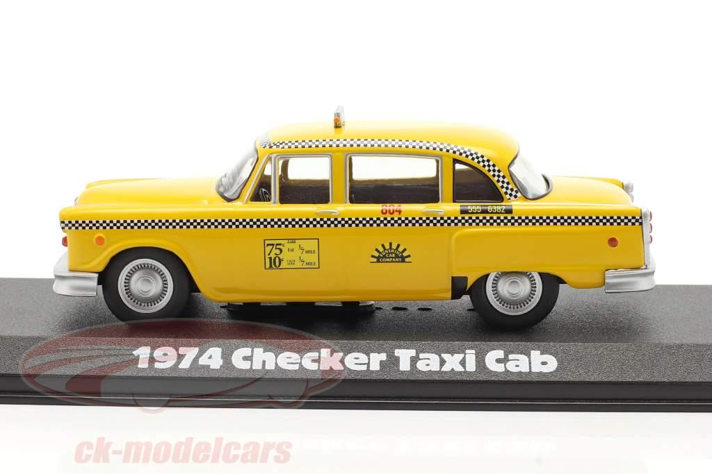 Checker Taxi Cab 1974 serie TV Taxi (1978-83) giallo 1:43 Greenlight
