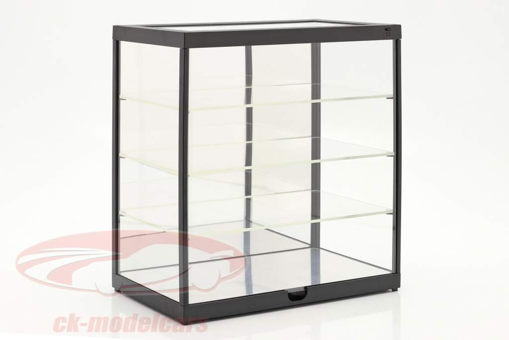 Enkelt udstillingsvindue Med Led lys og spejl Til vægt 1:24 sort Triple9