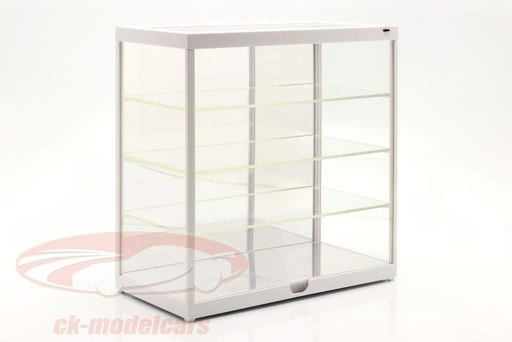 Single showcase with LED lighting and mirror for 1:18 / 1:24 white Triple9