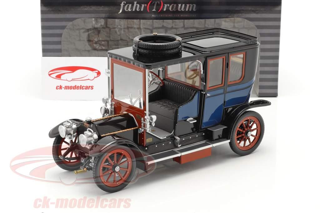 Austro Daimler 22/35 Maja Engine Año de construcción 1908 azul / negro 1:18 Fahr(T)raum