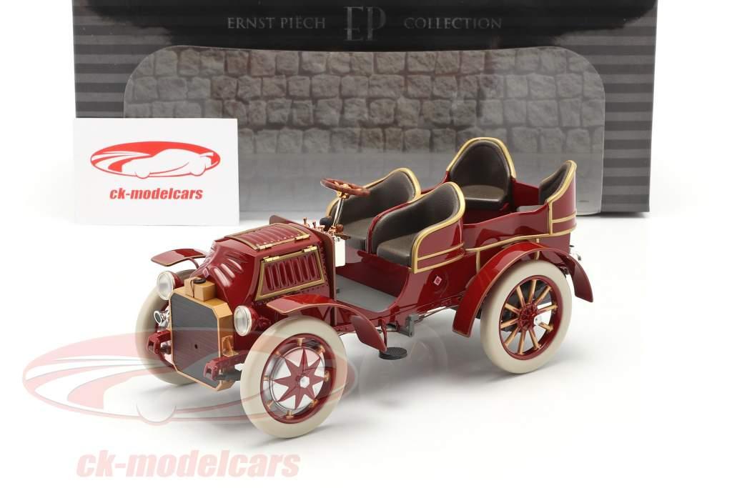 Lohner Porsche Mixte Hybrid Byggeår 1901 rød 1:18 Fahr(T)raum