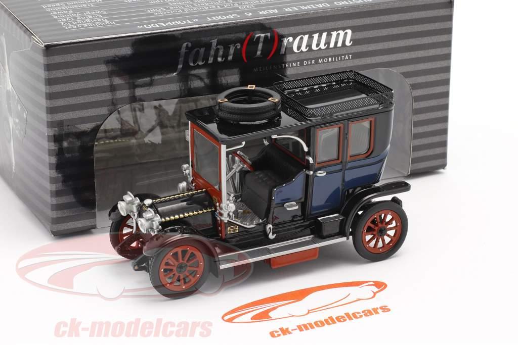 Austro Daimler 22/35 Maja Engine Baujahr 1908 blau / schwarz 1:43 Fahr(T)raum