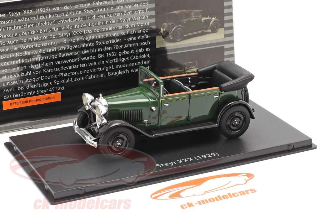 Steyr XXX Cabriolet Anno di costruzione 1929 verde 1:43 Fahr(T)raum