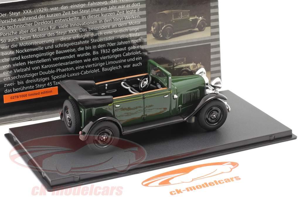 Steyr XXX Cabriolet Baujahr 1929 grün 1:43 Fahr(T)raum