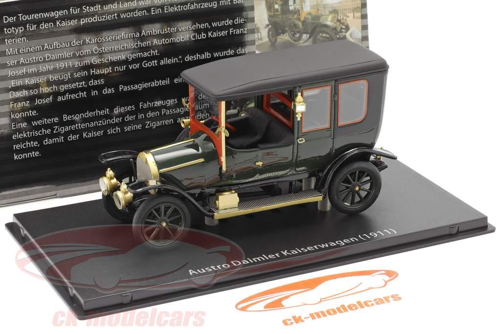 Austro Daimler Kaiserwagen Bouwjaar 1911 groen 1:43 Fahr(T)raum