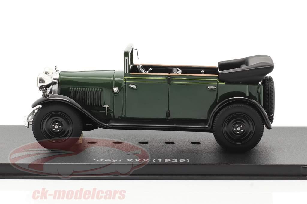 Steyr XXX Cabriolet Bouwjaar 1929 groen 1:43 Fahr(T)raum