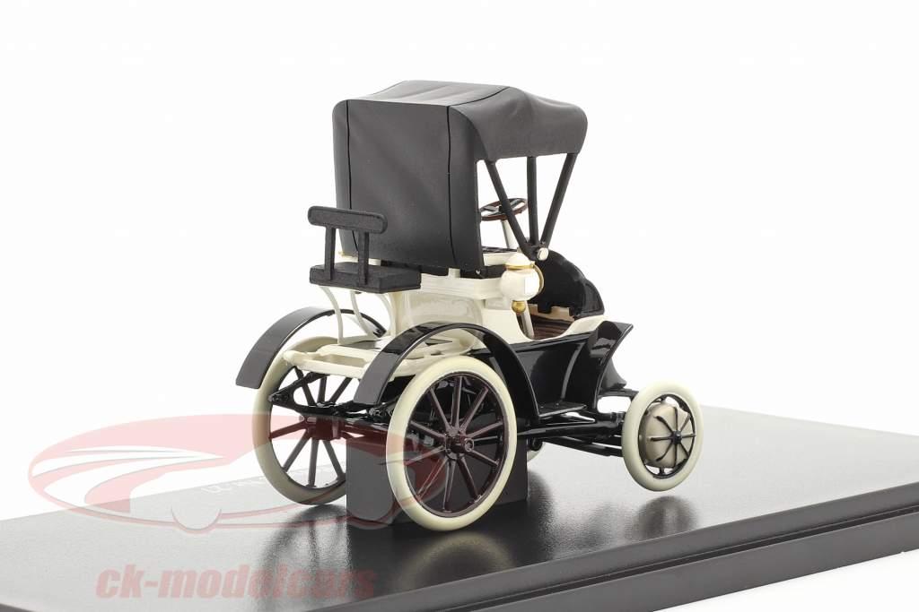 Lohner Porsche Nr. 27 Closed Top Bouwjaar 1900 zwart / Wit 1:43 Fahr(T)raum