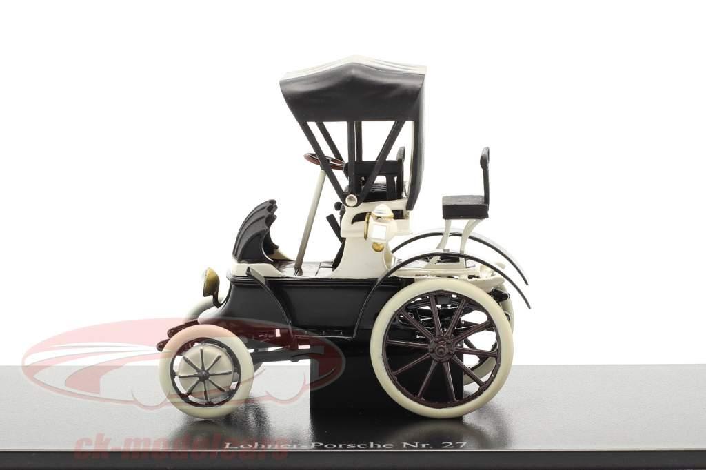 Lohner Porsche Nr. 27 Closed Top Baujahr 1900 schwarz / weiß 1:43 Fahr(T)raum