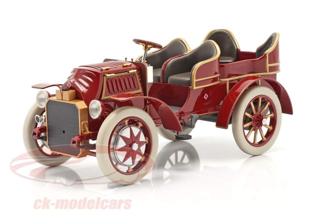 Lohner Porsche Mixte Hybrid Baujahr 1901 rot 1:18 Fahr(T)raum