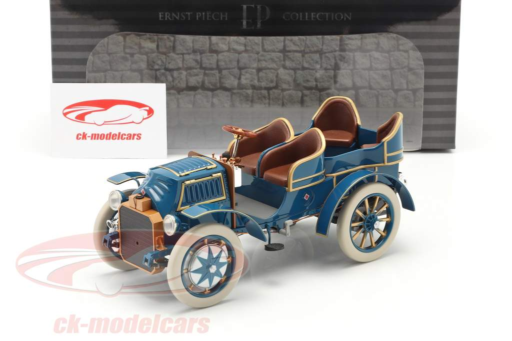 Lohner Porsche Mixte Hybrid Année de construction 1901 bleu 1:18 Fahr(T)raum