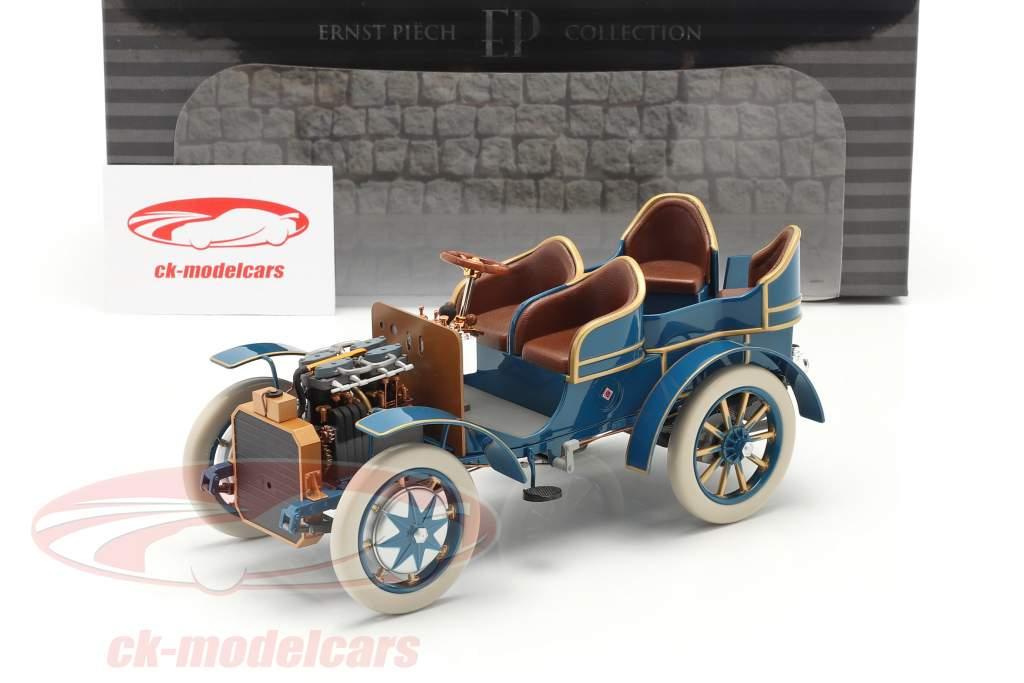 Lohner Porsche Mixte Hybrid Baujahr 1901 blau 1:18 Fahr(T)raum