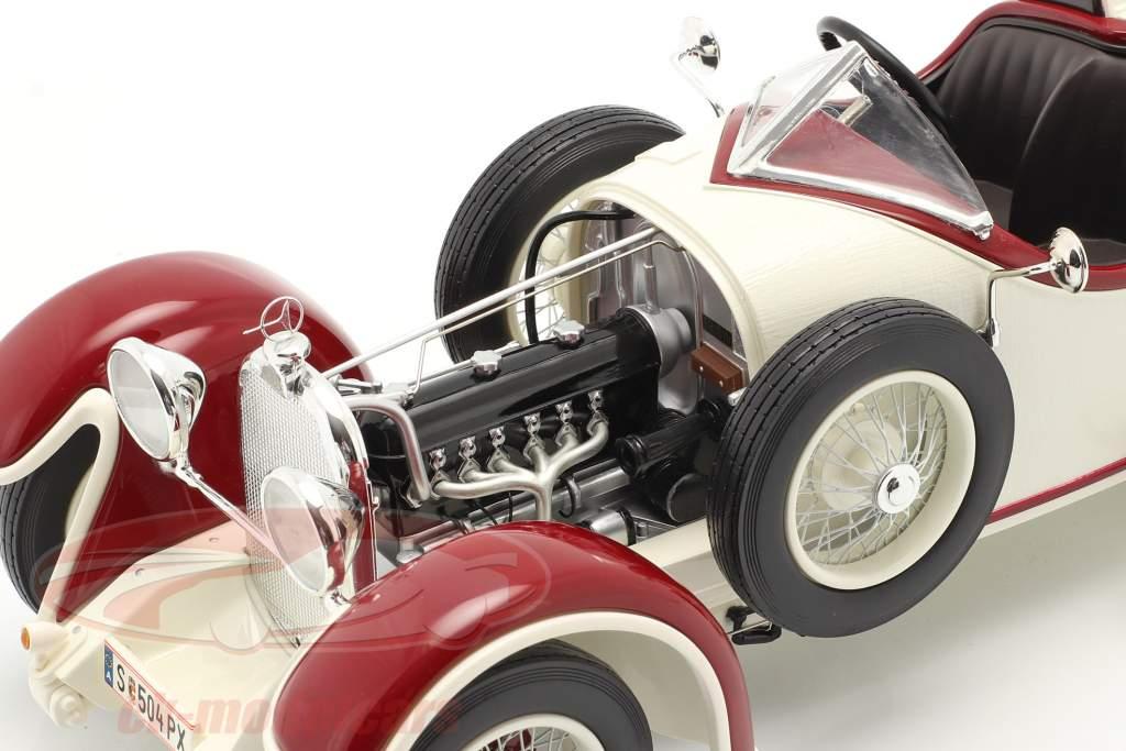 Austro Daimler ADR 6 Sport Torpedo year 1929 white / red 1:18 Fahr(T)raum