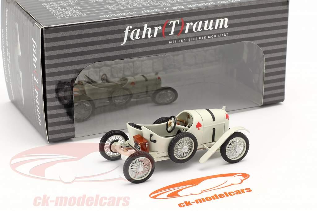 Austro Daimler Sascha ADS-R Bouwjaar 1922 Wit 1:43 Fahr(T)raum