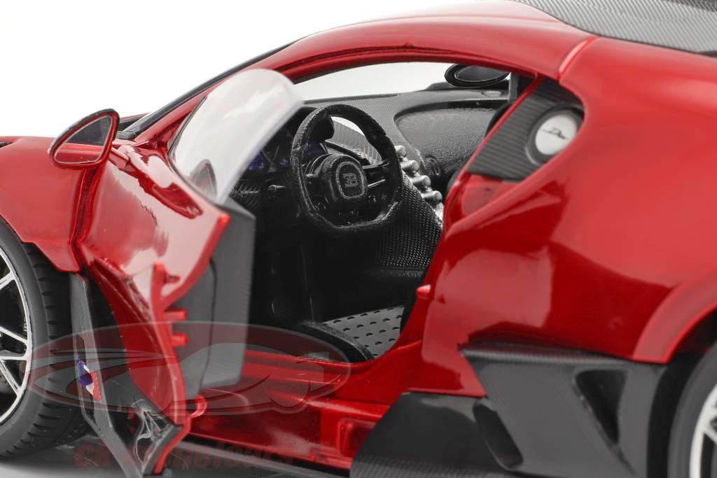 Bugatti Divo Anno di costruzione 2018 rosso / nero 1:18 Bburago
