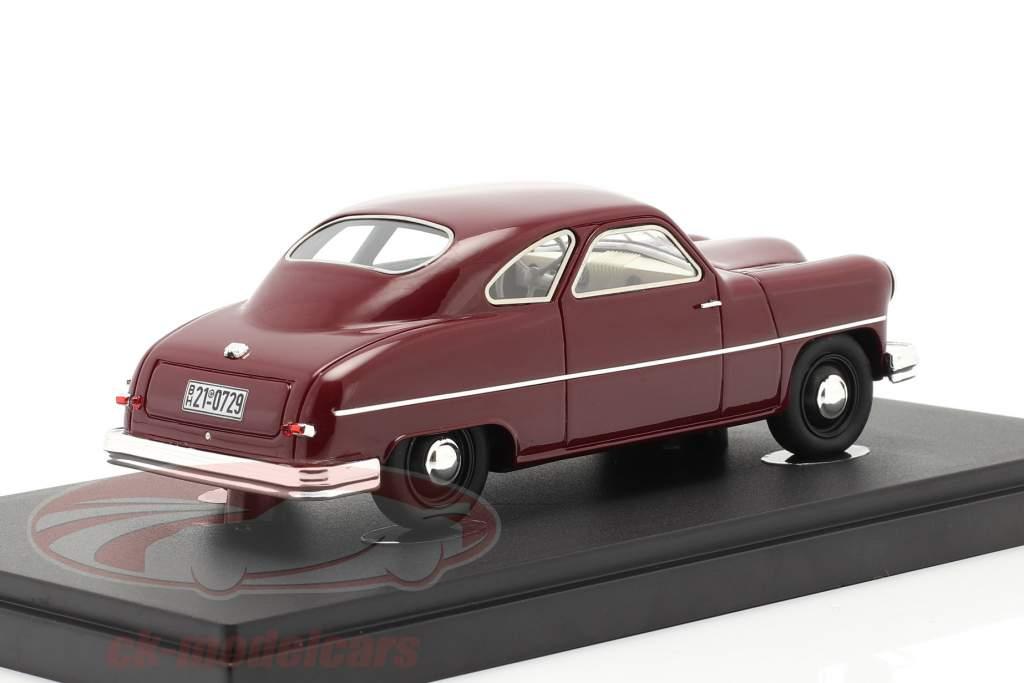 Staunau K400 Byggeår 1950 mørk rød 1:43 AutoCult