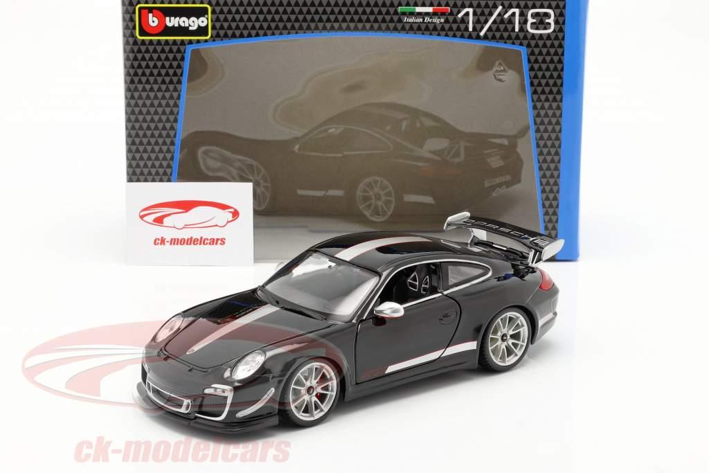 Porsche 911 (997) GT3 RS 4.0 Année 2011 noir / argent 1:18 Bburago