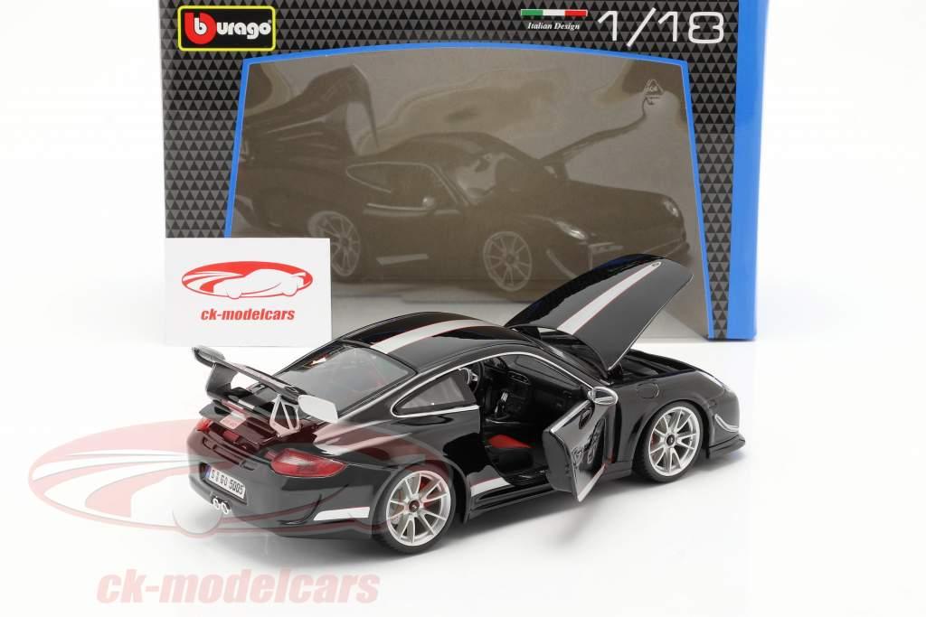 Porsche 911 (997) GT3 RS 4.0 År 2011 black / sølv 1:18 Bburago