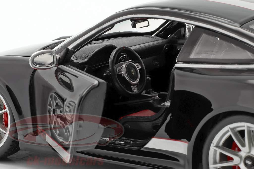 Porsche 911 (997) GT3 RS 4.0 Año 2011 negro / plata 1:18 Bburago
