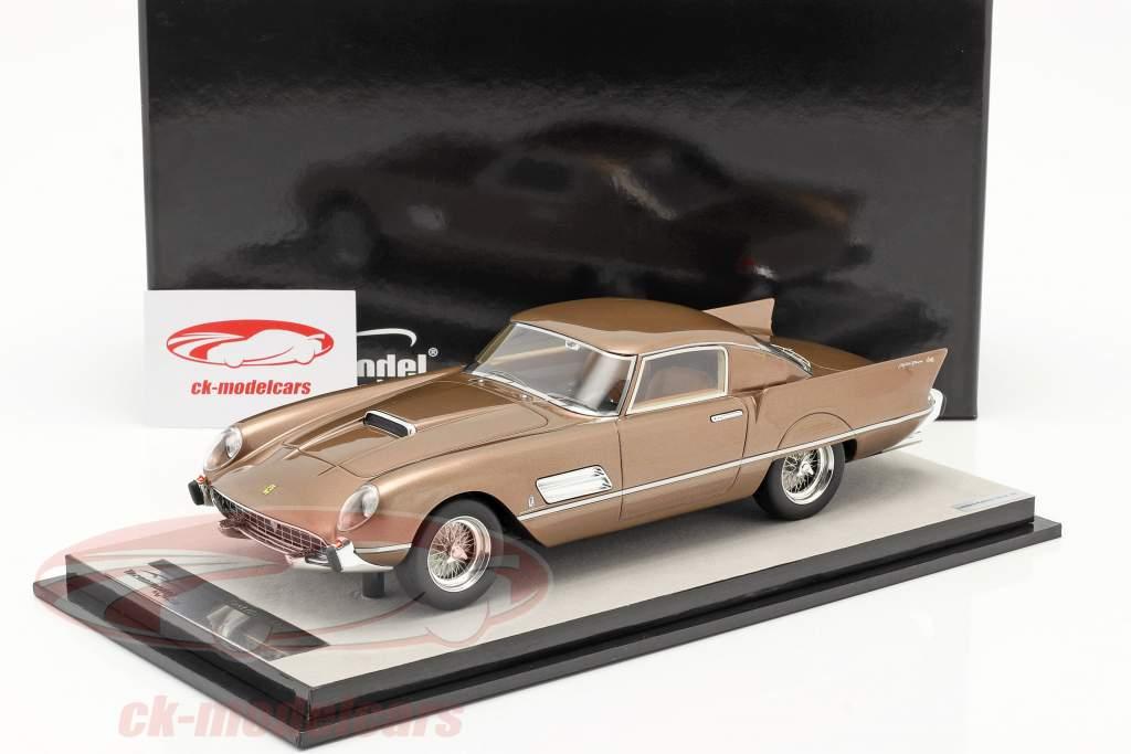 Ferrari 410 Superfast (0483SA) 1956 bronce metálico 1:18 Tecnomodel