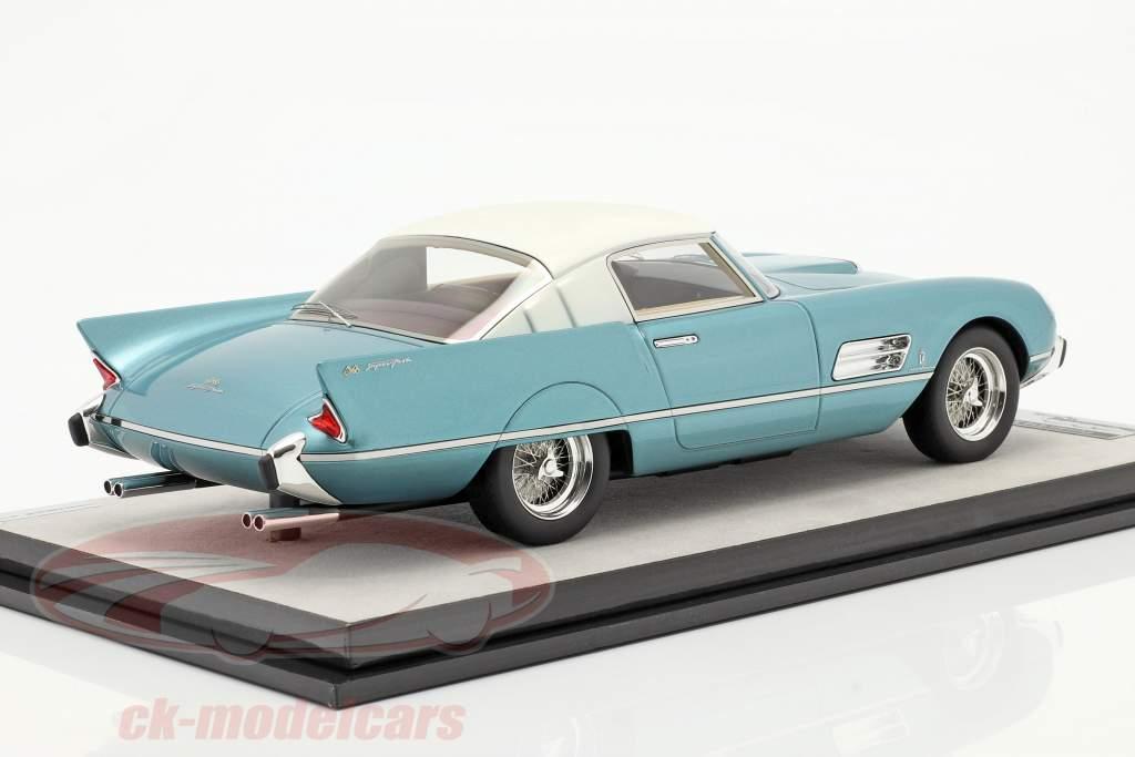 Ferrari 410 Superfast (0483SA) 1956 azur metálico / Blanco 1:18 Tecnomodel