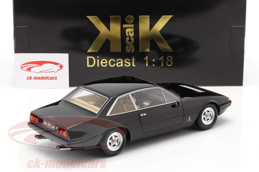Ferrari 365 GT4 2+2 Byggeår 1972 sort 1:18 KK-Scale