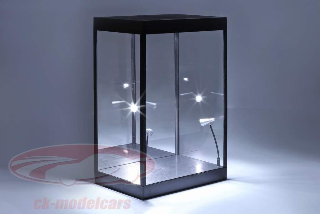 Enkelt udstillingsvindue Med Led lys og spejl Til tegn i vægt 1:6 Triple9