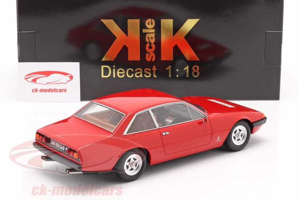 Ferrari 365 GT4 2+2 Byggeår 1972 rød 1:18 KK-Scale