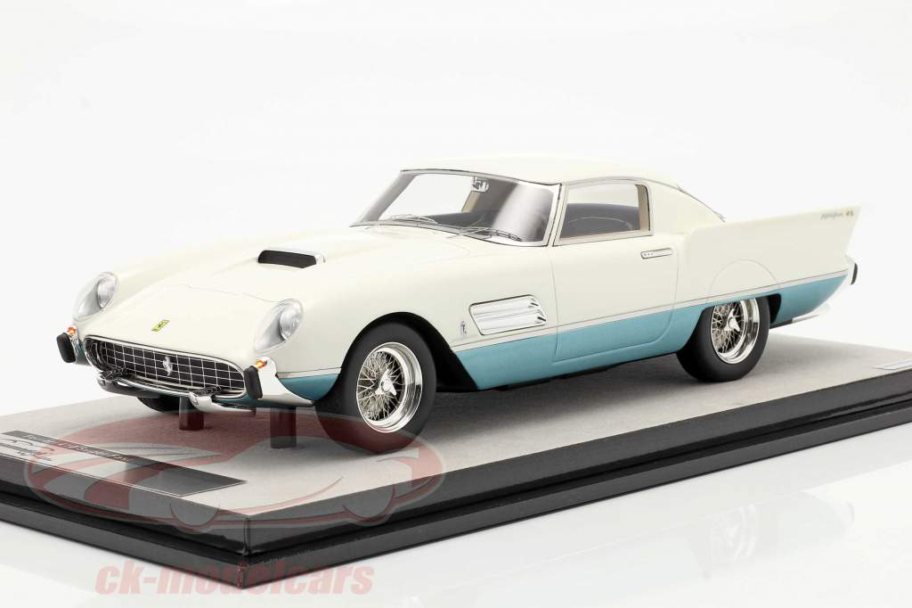 Ferrari 410 Superfast (0483SA) 1956 bianca / azzurro metallico 1:18 Tecnomodel