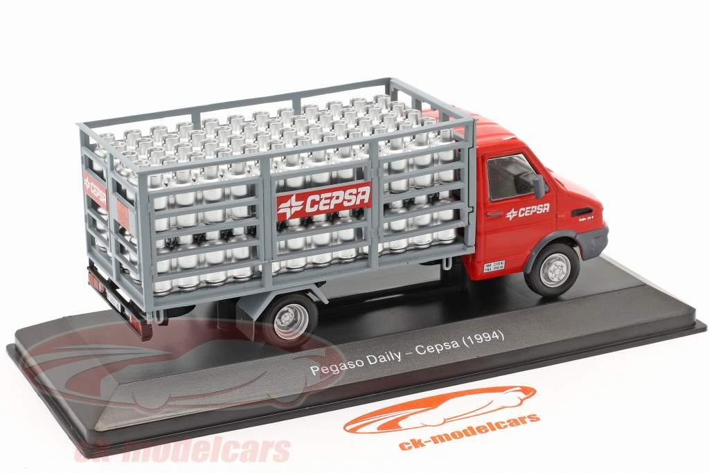 Pegaso Daily un camion Cepsa Année de construction 1994 rouge / gris 1:43 Altaya