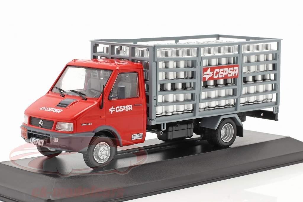 Pegaso Daily Caminhão Cepsa Ano de construção 1994 vermelho / cinzento 1:43 Altaya