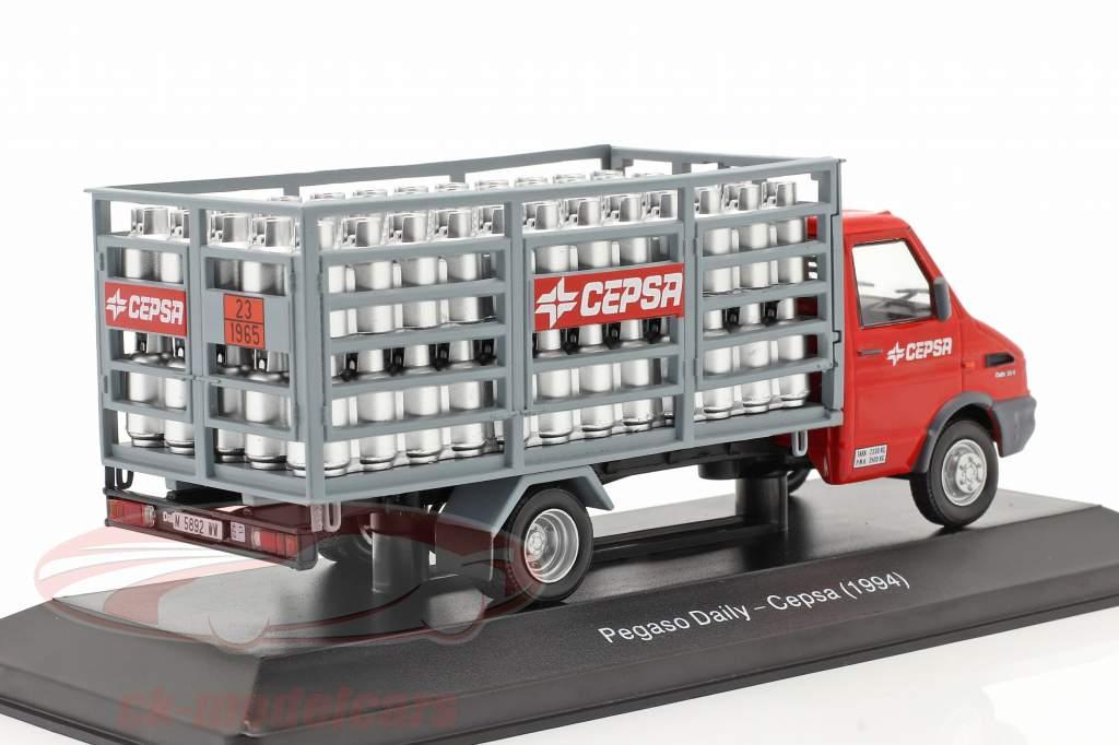 Pegaso Daily Lieferwagen Cepsa Baujahr 1994 rot / grau 1:43 Altaya