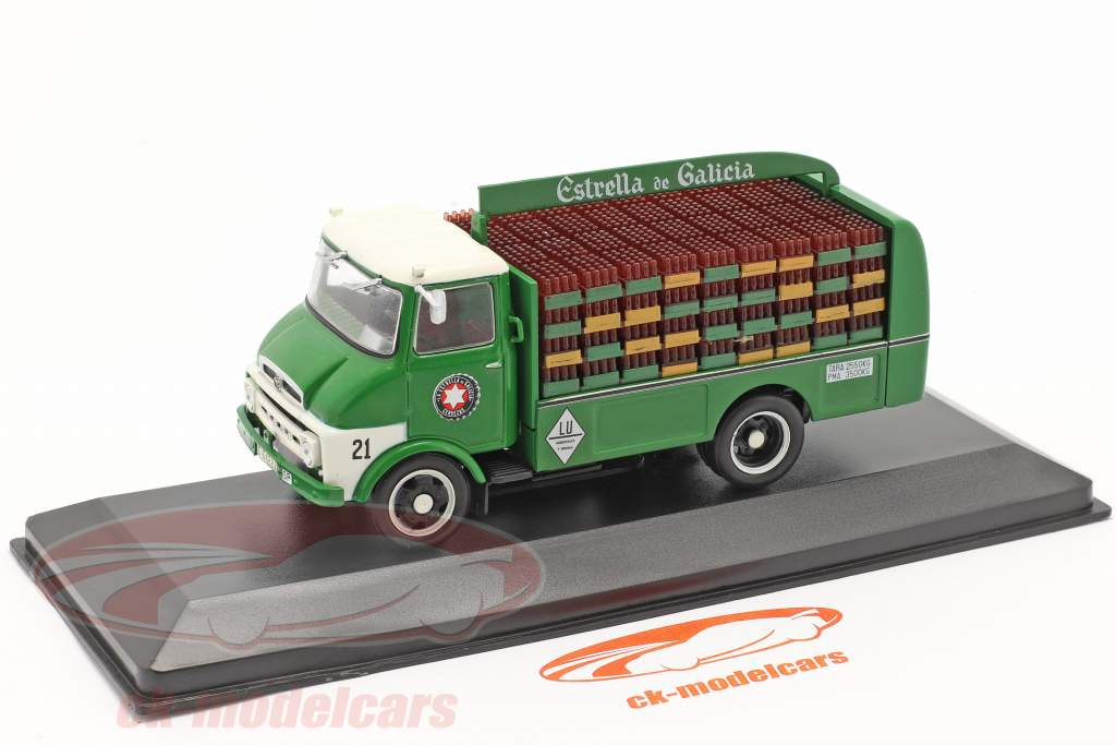 Ebro C150 Lieferwagen Estrella de Galicia Baujahr 1968 grün 1:43 Altaya