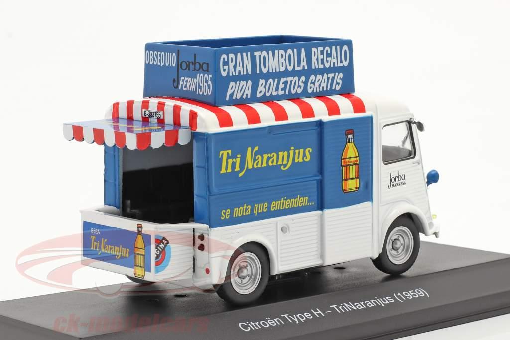 Citroen Type H Van TriNaranjus Bouwjaar 1959 Wit / blauw / rood 1:43 Altaya