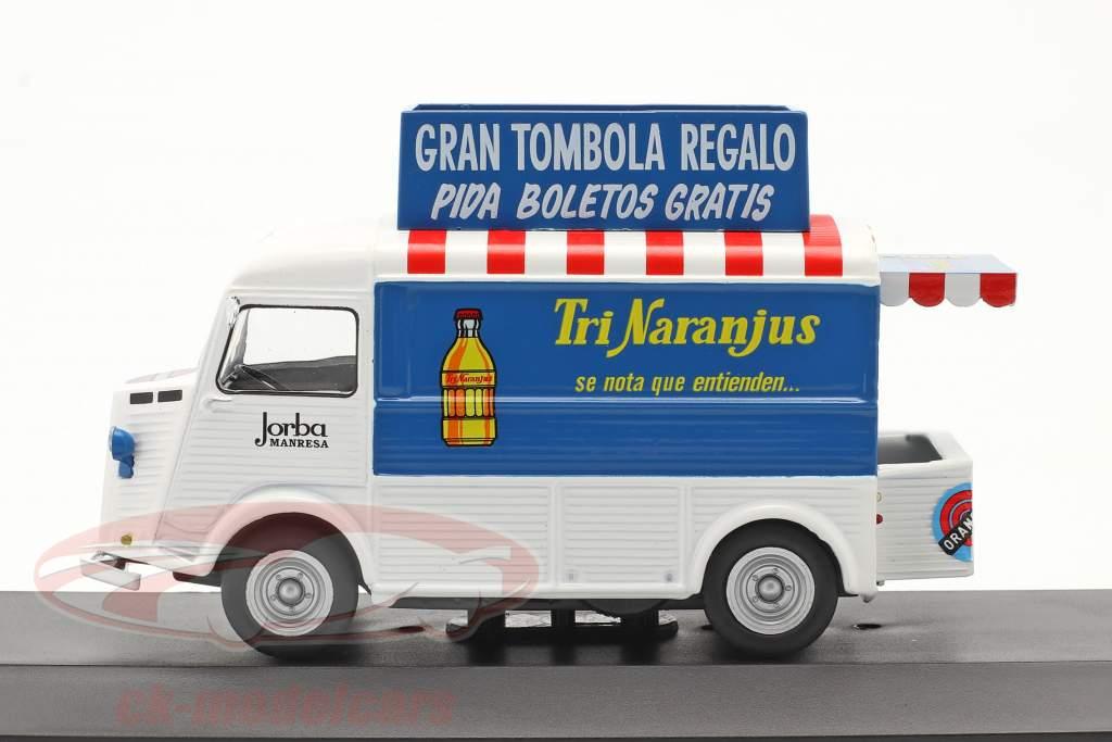 Citroen Type H furgão TriNaranjus Ano de construção 1959 Branco / azul / vermelho 1:43 Altaya