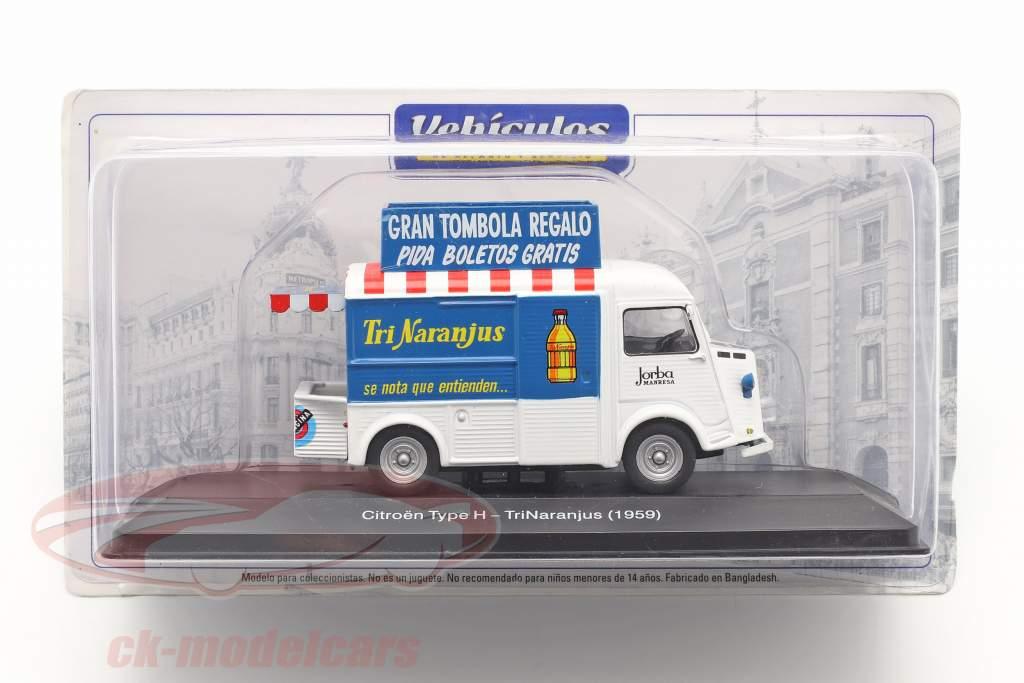 Citroen Type H Van TriNaranjus Byggeår 1959 hvid / blå / rød 1:43 Altaya