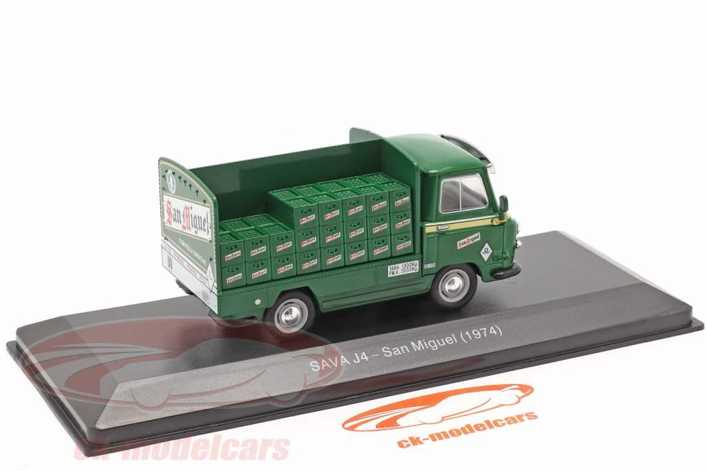 Sava J4 Lieferwagen San Miguel Baujahr 1974 grün 1:43 Altaya