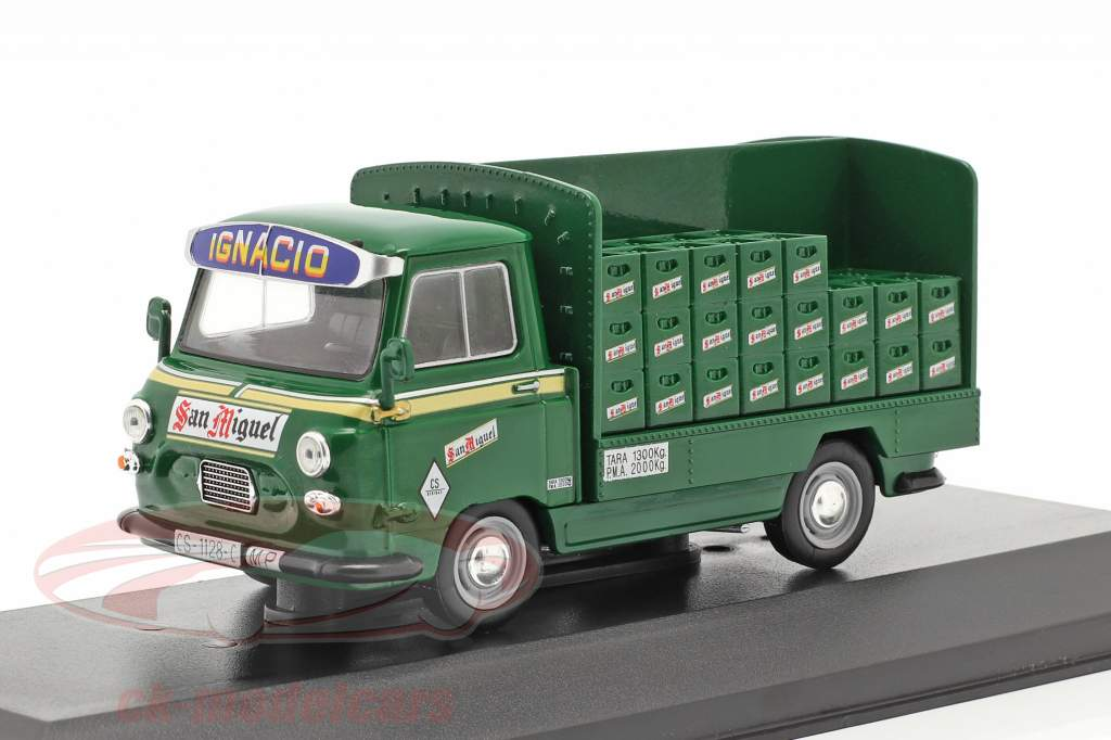 Sava J4 Lastbil San Miguel Byggeår 1974 grøn 1:43 Altaya
