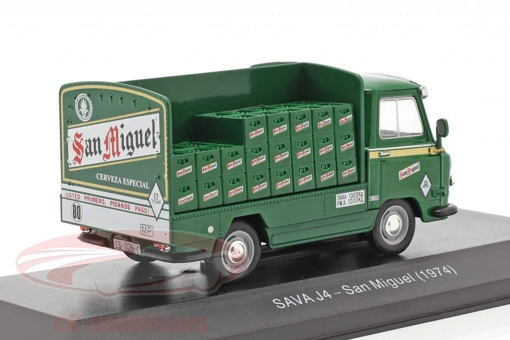 Sava J4 Vrachtwagen San Miguel Bouwjaar 1974 groen 1:43 Altaya
