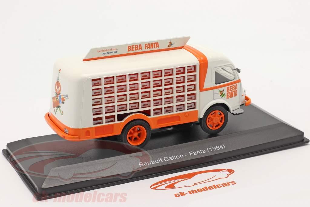 Renault Galion Lieferwagen Beba Fanta Baujahr 1964 weiß / orange 1:43 Altaya