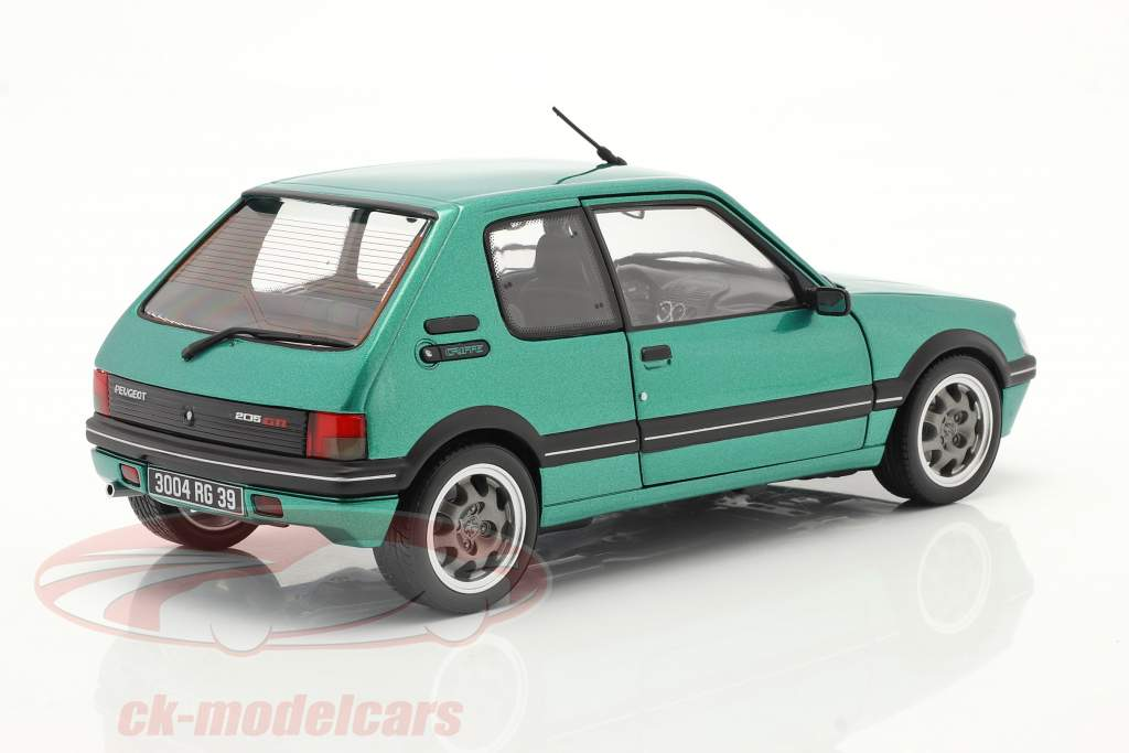 Peugeot 205 GTi Griffe Construction year 1990 green metallic 1:18 Norev