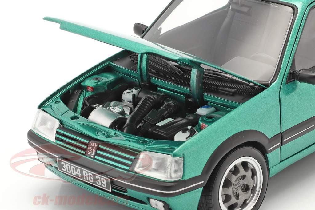 Peugeot 205 GTi Griffe Baujahr 1990 grün metallic 1:18 Norev