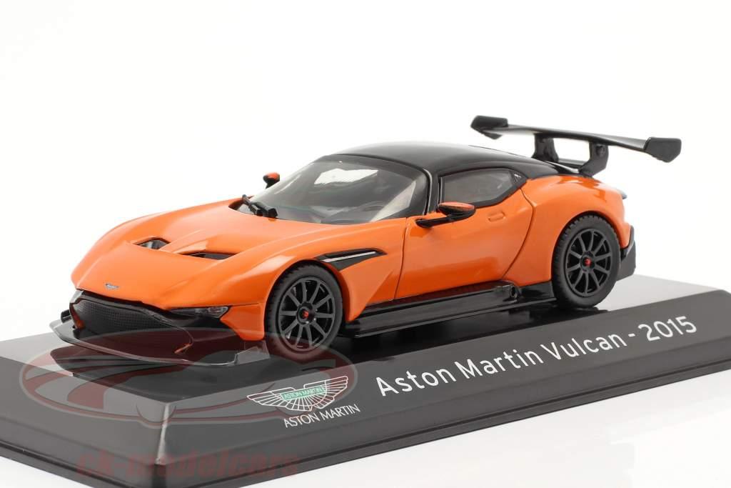 Aston Martin Vulcan bouwjaar 2015 oranje / zwart 1:43 Altaya