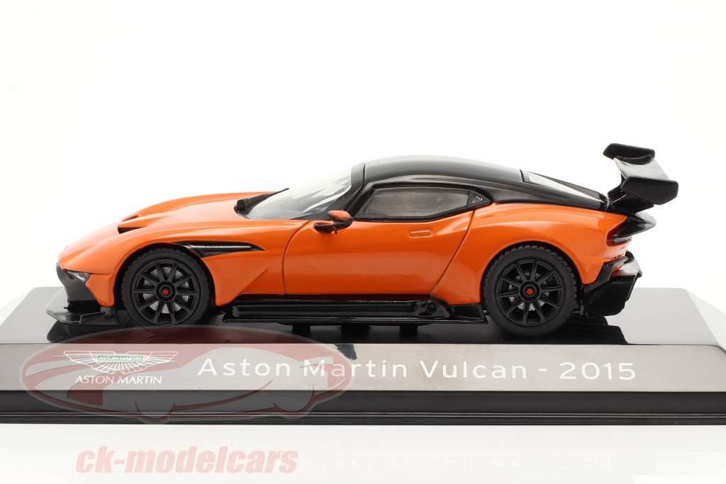 Aston Martin Vulcan année de construction 2015 orange / noir 1:43 Altaya