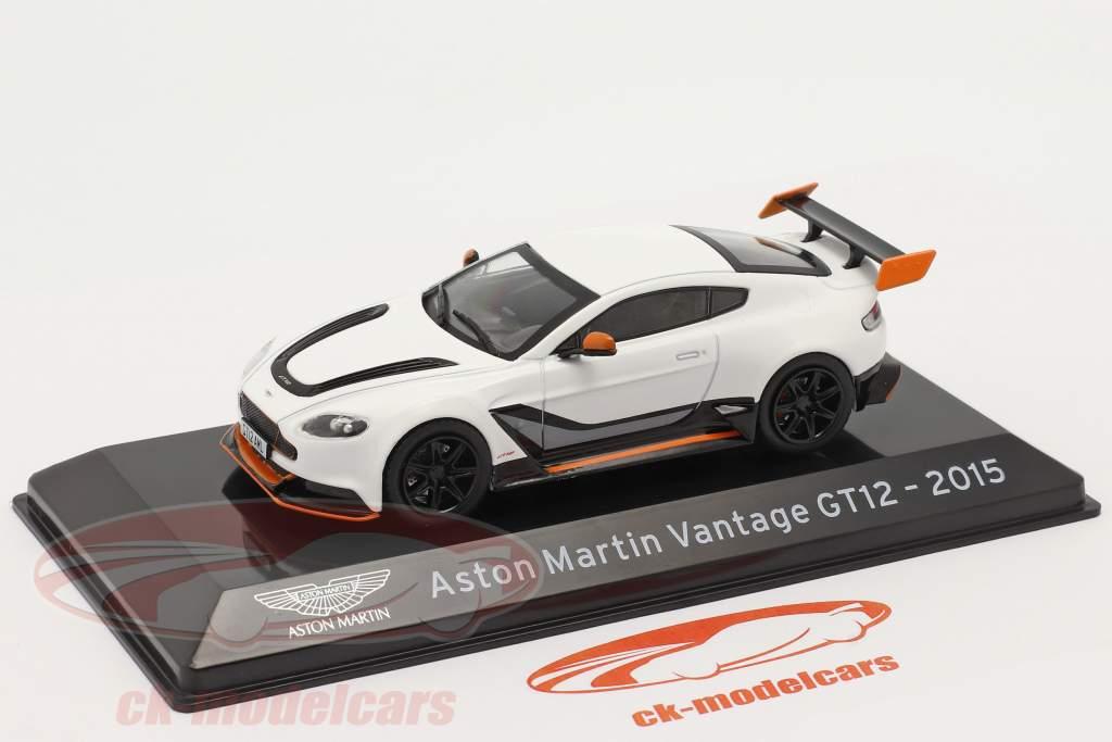 Aston Martin Vantage GT12 Anno di costruzione 2015 bianca 1:43 Altaya